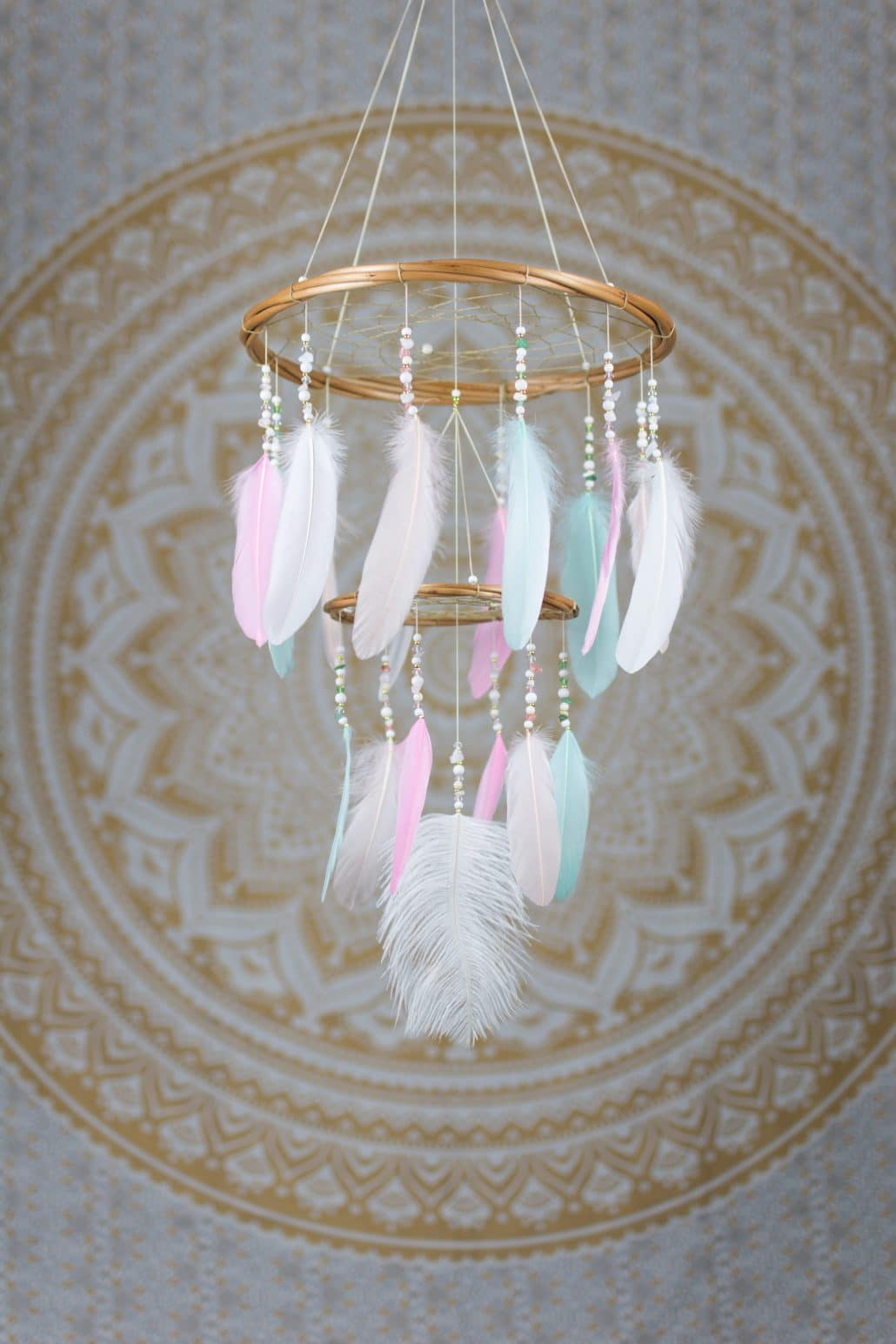 Pastel Chandelier Mobile Dreamcatcher The Hippie Hut