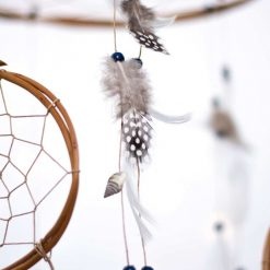 Dream Catcher with Spotty Feathers Closeup Alternate View