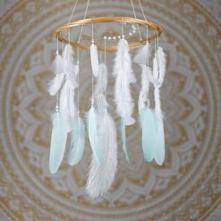 Mint and White Dream Catcher Mobile