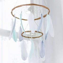 Mint Chandelier Dream Catcher Mobile With Simple Beading