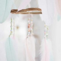 Pastel Chandelier Dream Catcher Mobile Closeup of Beading
