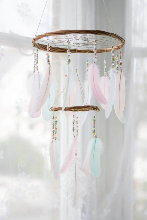 Pastel Chandelier Dreamcatcher Mobile