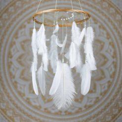 White Dreamcatcher Mobile