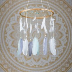 Mint Grey and White Dreamcatcher Mobile