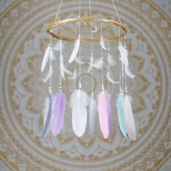 Pastel Colours Dreamcatcher Mobile