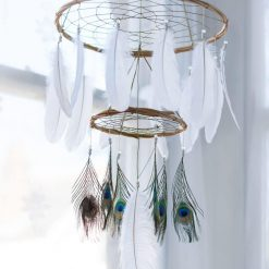 Peacock Dream Catcher Mobile Chandelier